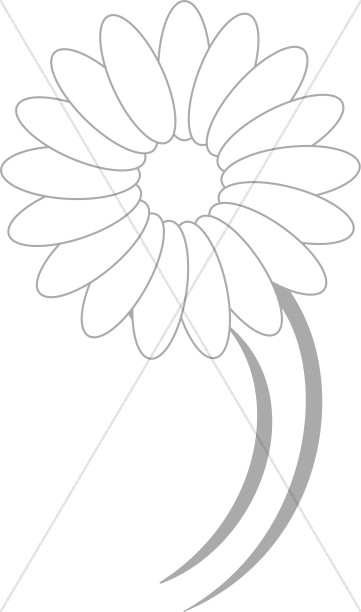 Dancing Daisy Line Drawing