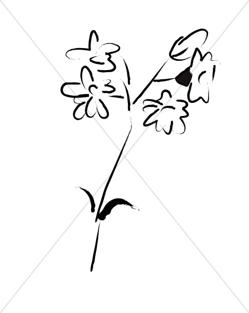 Simple Flower Sketch