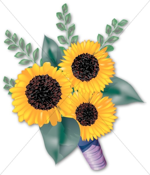 Yellow Sunflower Bridal Bouquet