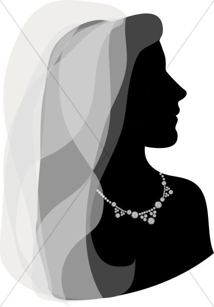 Silhouette Gazing Bride