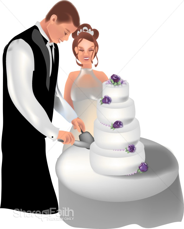 wedding cake cutting ceremony cake cutting ceremony christian wedding clipart 22319