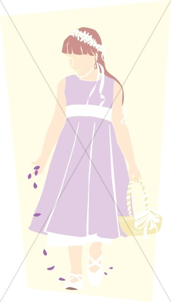 Lavender Dress Flower Girl