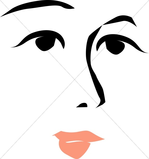 Stylized Woman's Face