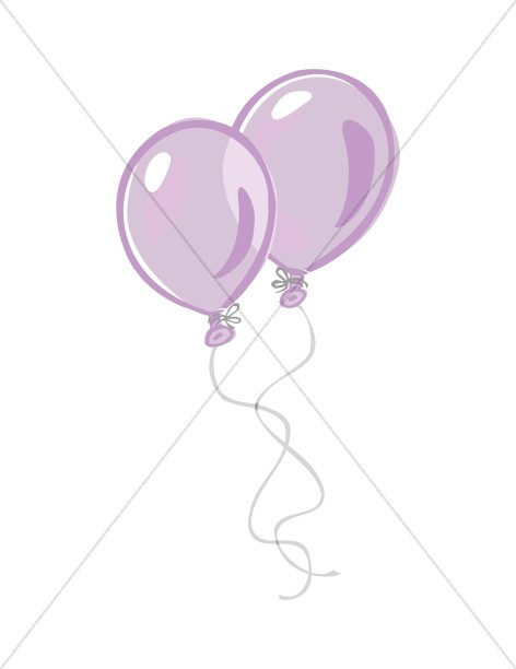 Pair of Purple Birthday Balloons