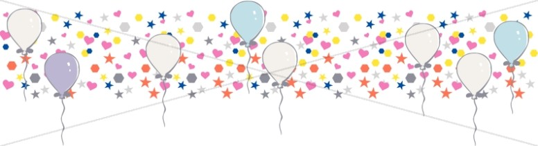 Bright Little Shapes and Birthday Balloons Header