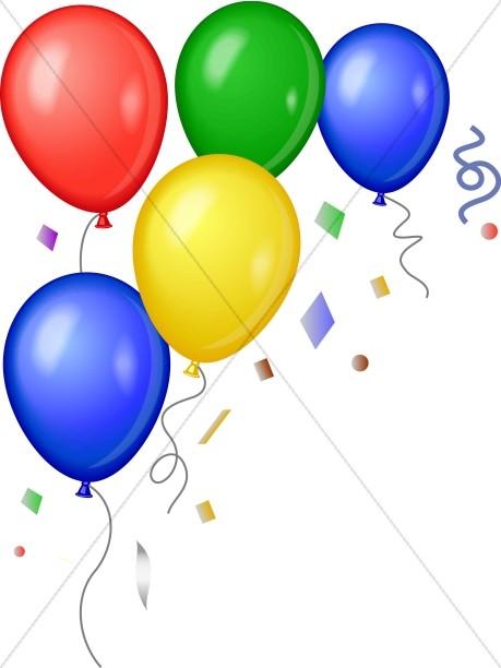 Corner of Bright Balloons