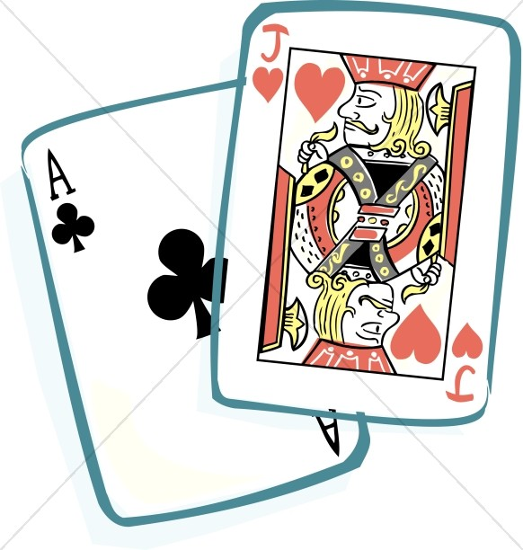 Ace and Jack Playing Cards