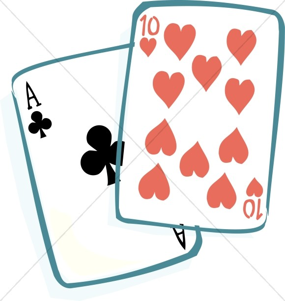 Ace of Clubs and Ten of Hearts