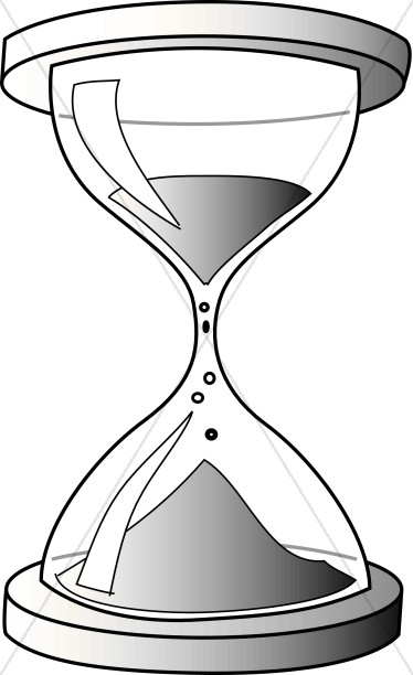 Hourglass Counting off the minutes to New Years