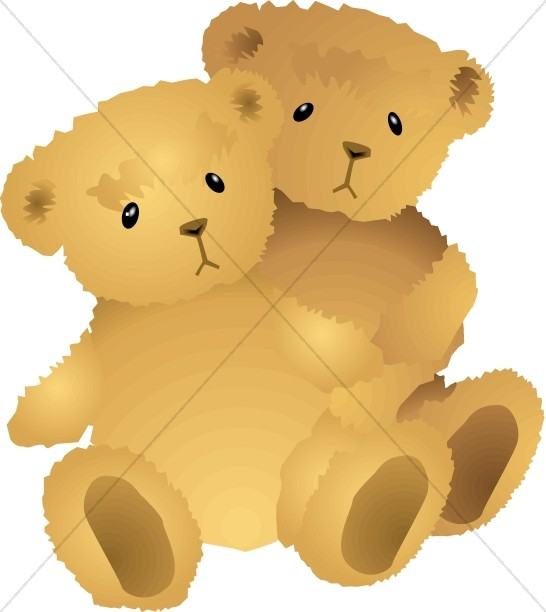 Two Hugging Bears