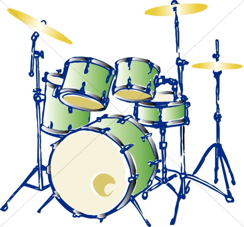 Green Complete Drum Set