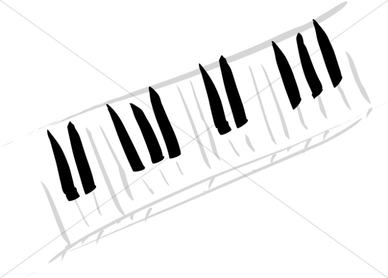 Artistic Piano keys