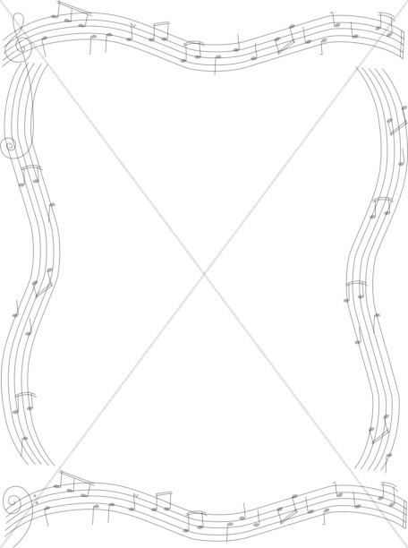 musical notes on staves frame - Music Note Picture Frame