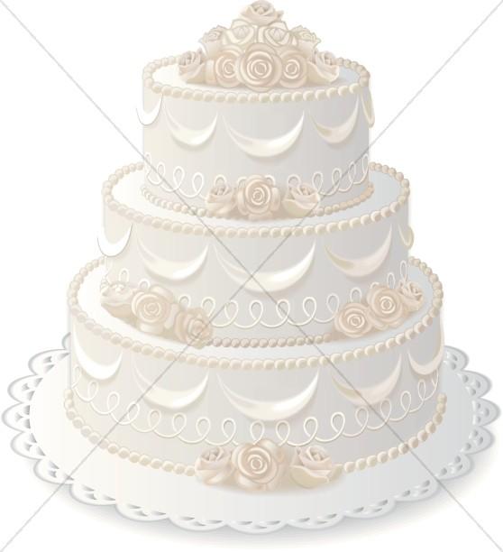 Anniversary Cake with Elegant Rose Decorations