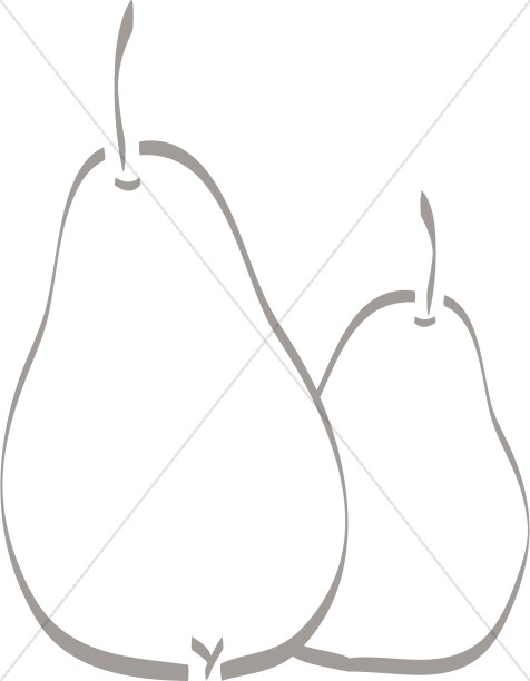 Two Pears Clipart
