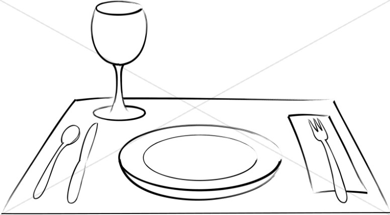 Place Setting with Wine Glass