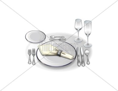 Formal Place Setting with China