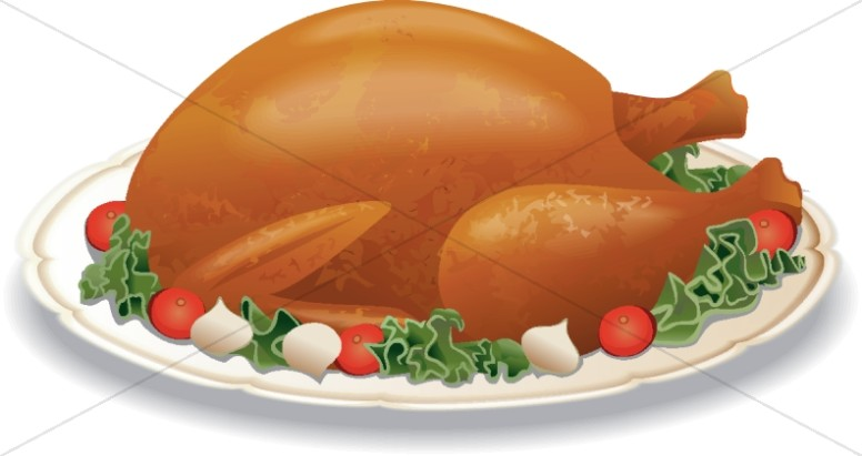 Roast Turkey on a Plate