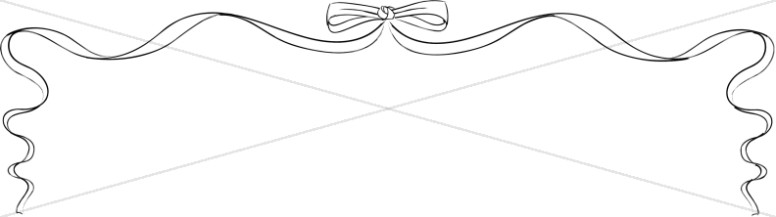 BW Line Art Ribbon Bow Page Top
