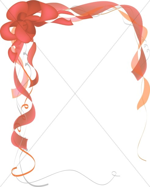 Red Party Bow with Ribbons