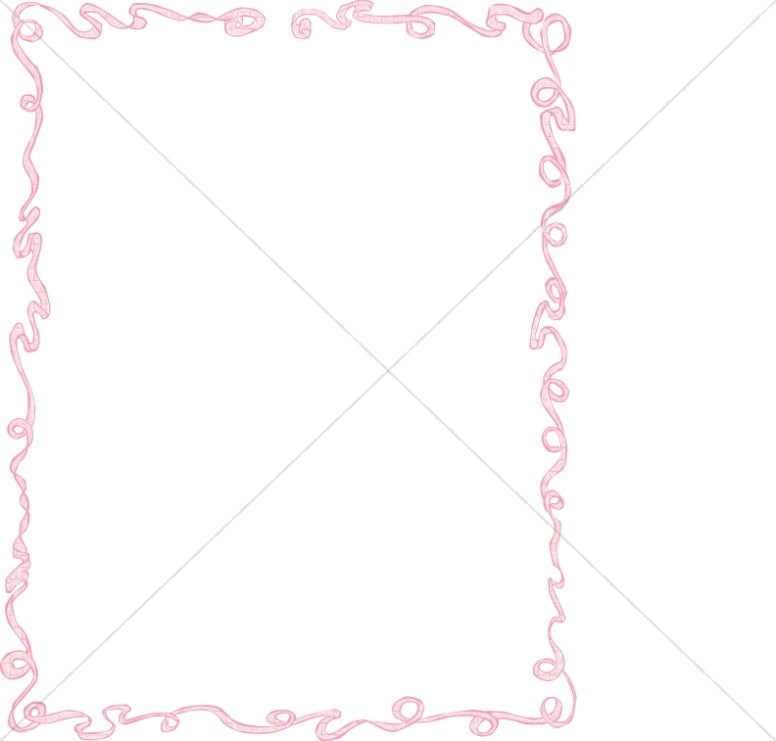 Pink Party Ribbon Frame