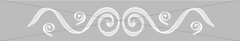 Horizontal Gray Bar with Ribbon Swirls