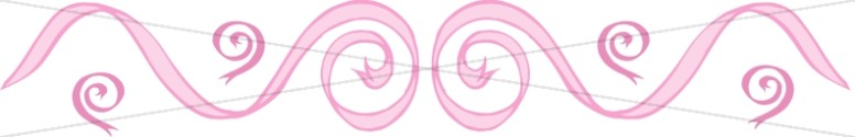 Horizontal Pink Ribbon Swirls