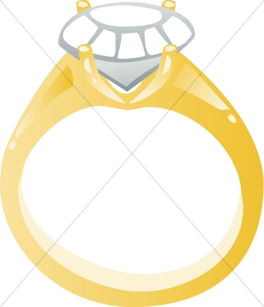 Diamond Engagement Ring Cartoon