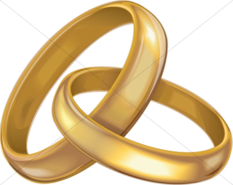 Gold Bands Showing Eternal Commitment