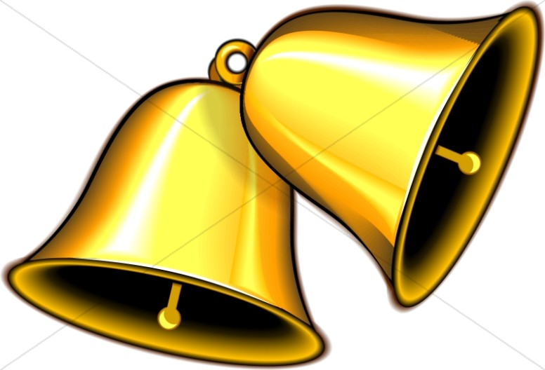pair of ringing gold bells church bell clipart rh sharefaith com clip art bell curve clipart balloons