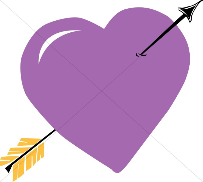 Purple Heart with Arrow
