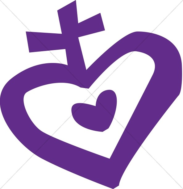 Modern Heart with Cross