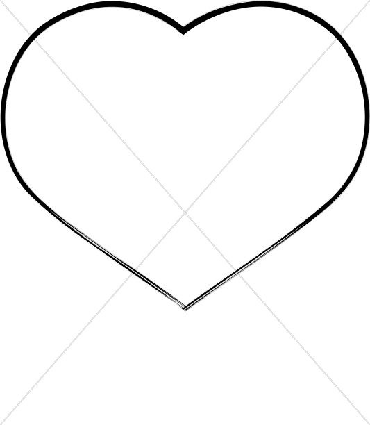 Heart Oulined in Black