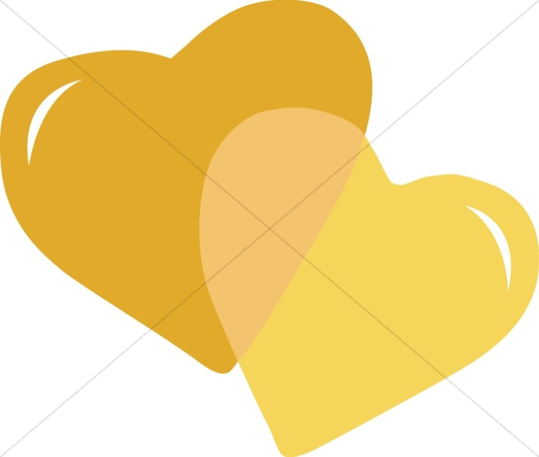 Pair of Gold Hearts