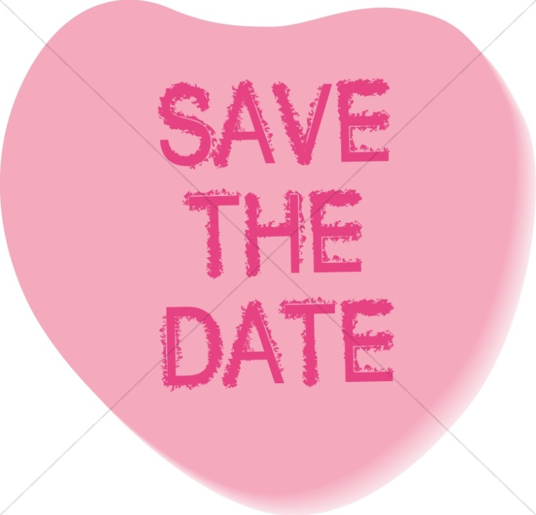 Save the Date Candy Heart