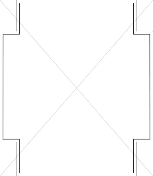 Geometric BW Page Sides