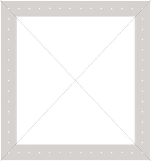 Square Gray Frame with Dots
