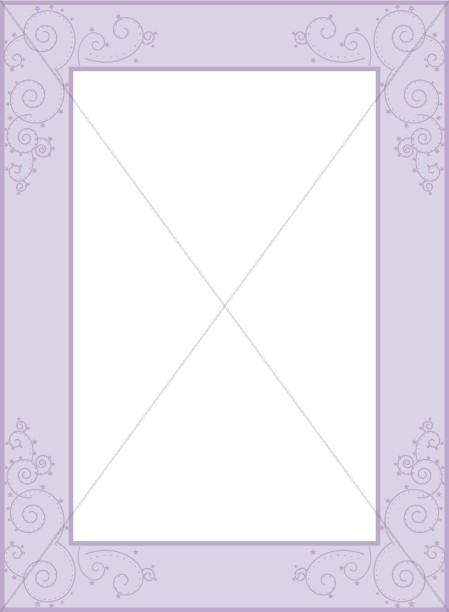 Purple Deco Frame with Swirls