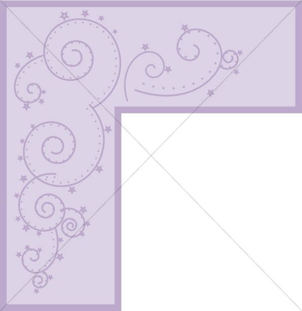 Purple Bar Swirl Corner