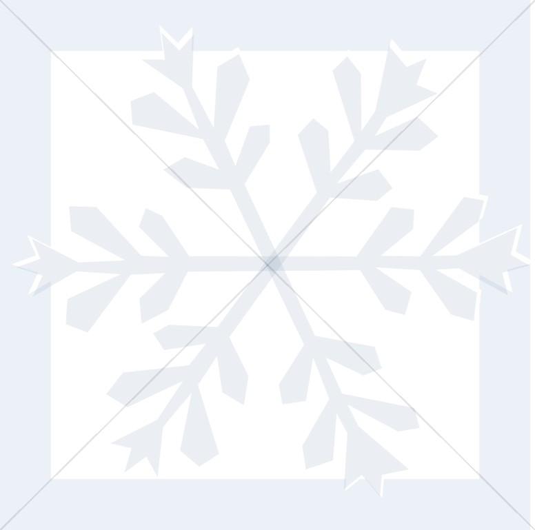 Pastel Snowflake in Blue Frame