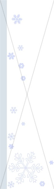 Snowflake and Blue Line Page Side