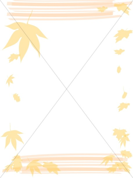 Falling Maple Leaf Autumn Frame