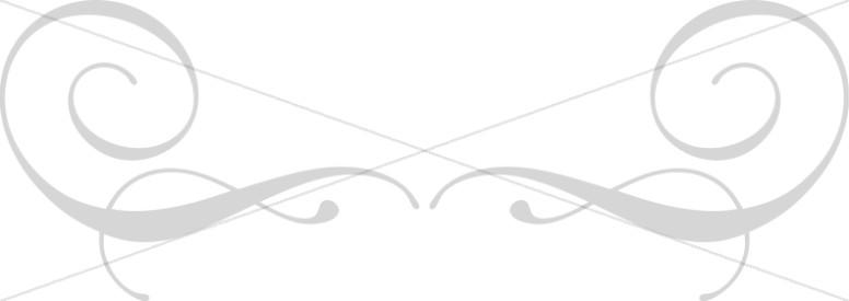 Gray Swirl Flourish Top