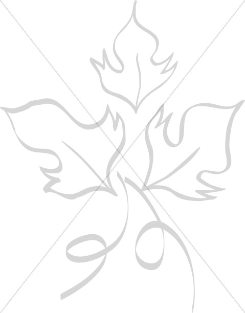 Harvest Leaf Line Art