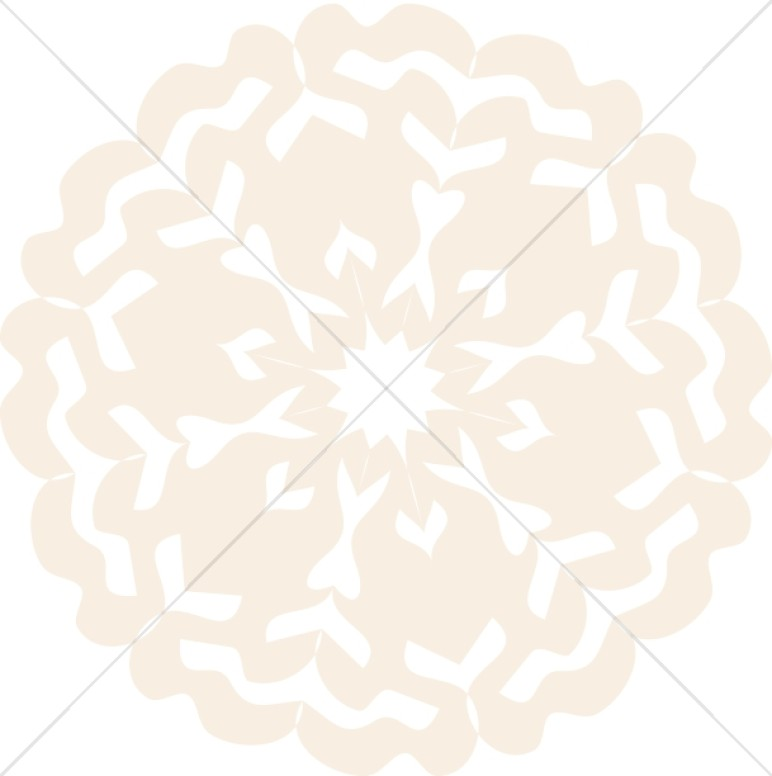 Peach Colored Snowflake