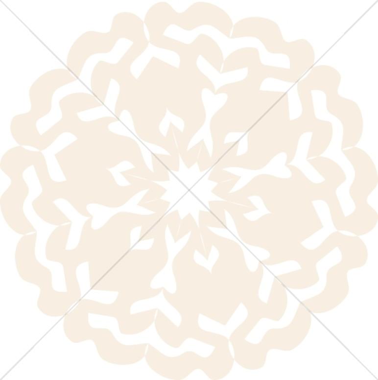 Peach Colored Snowflake