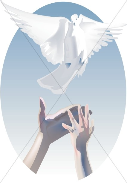 Dove with Freeing Hands