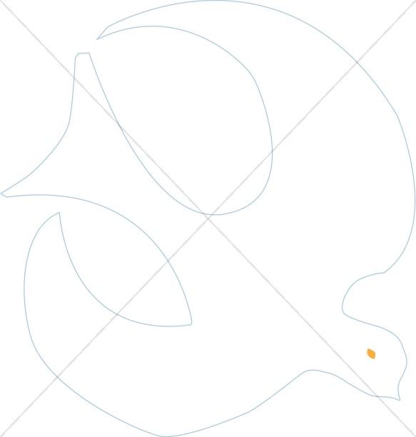 White Dove Graphic