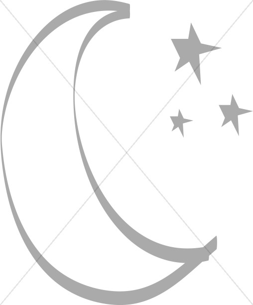 Simple Moon And Stars Moon Clipart