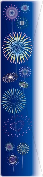 Colorful Fireworks Page Side